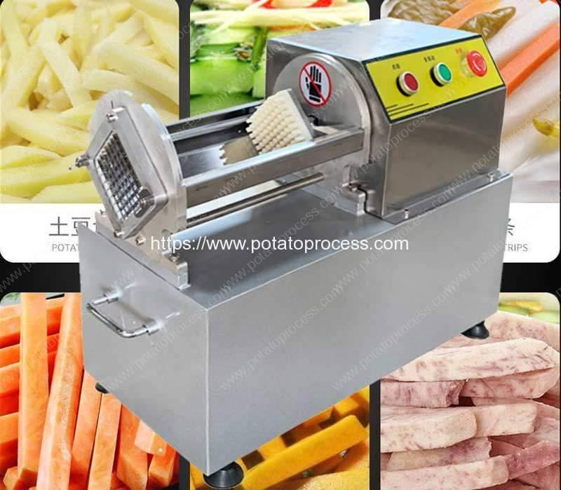 Semi-Automatic-Potato-Stick-Push-Cutting-Machine