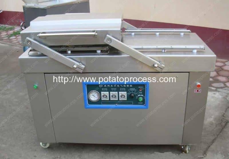 Machine d'emballage sous vide à deux chambres à frire française