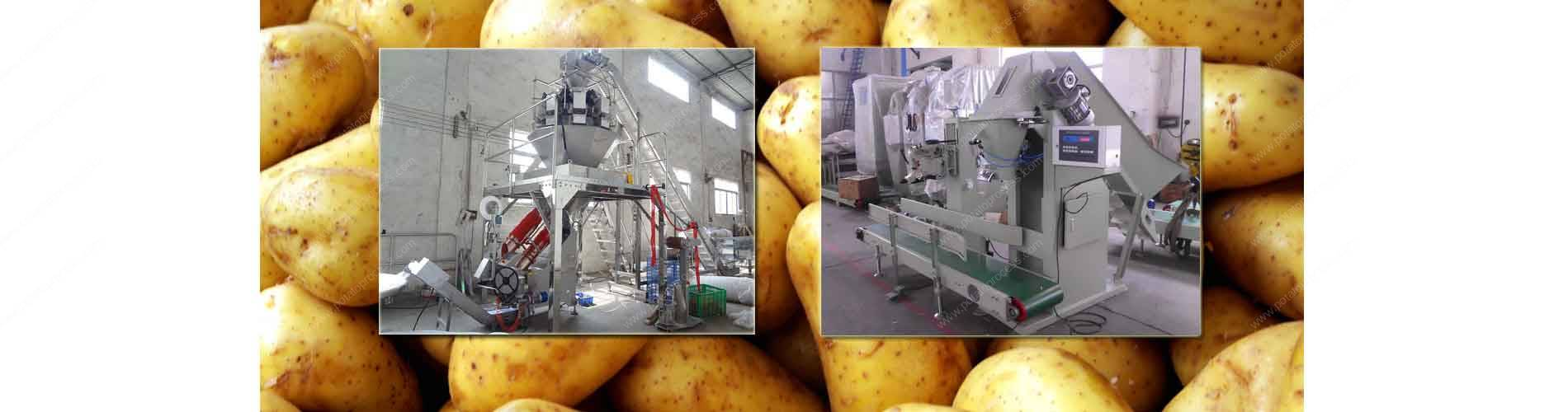 Potato Mesh Bag Clipping Packing Machine