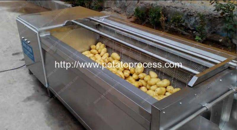 Brush-Roller-Type-Potato-Washing-Peeling-Machine