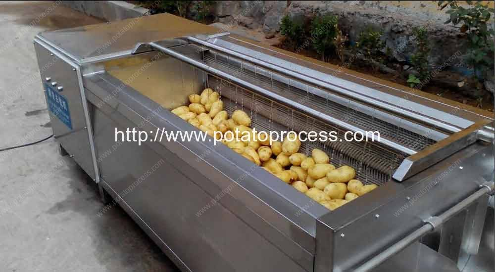 Brush Roller Type Potato Washing Peeling Machine