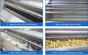 High-Quality-Brush-Type-Potato-Washing-Peeling-Machine-from-Romiter-Machinery