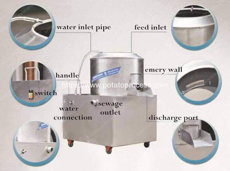 Abrasive-Drum-Type-Potato-Washing-Peeling-Machine