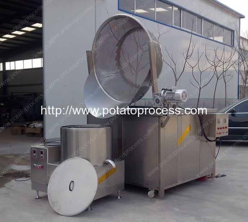 Automatic Discharging French Fries Fryer Machine