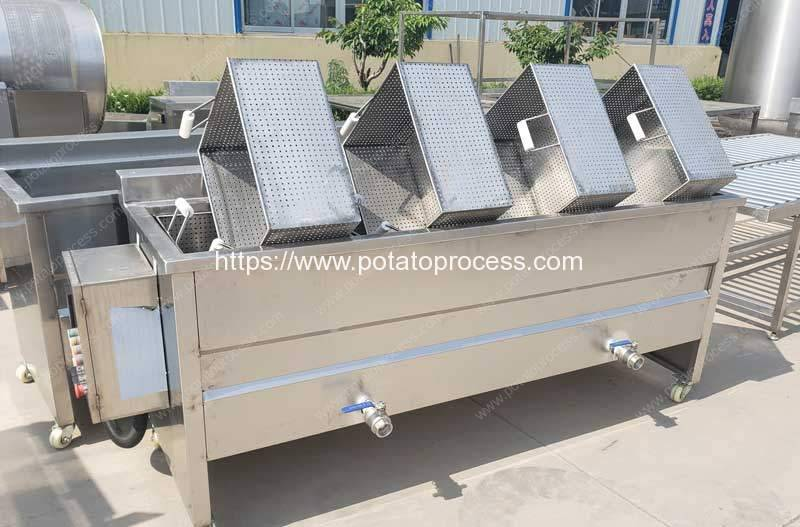 Container-Type-Potato-French-Fries-Blanching-Machine