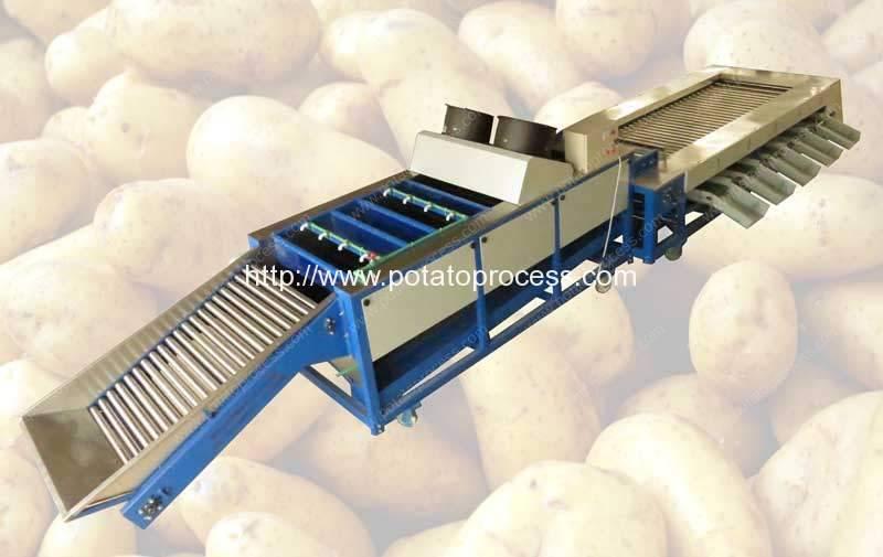 نوع متكامل التلقائي البطاطس تنظيف و ممهدة الخط