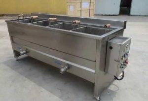 Machine à blanchir semi-automatique pour frites de pommes de terre
