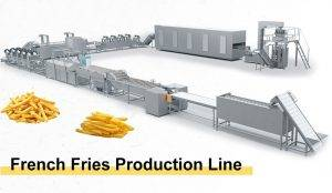 Linha de produção de batatas fritas congeladas totalmente automática