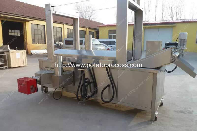 Aquecimento automático de gás natural Máquina de fritar batata frita