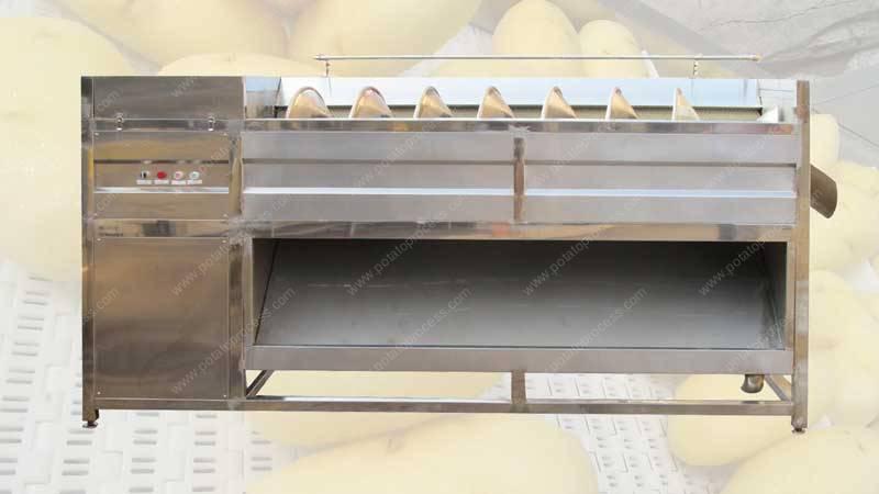 برغي نوع التغذية البطاطس غسل تقشير آلة