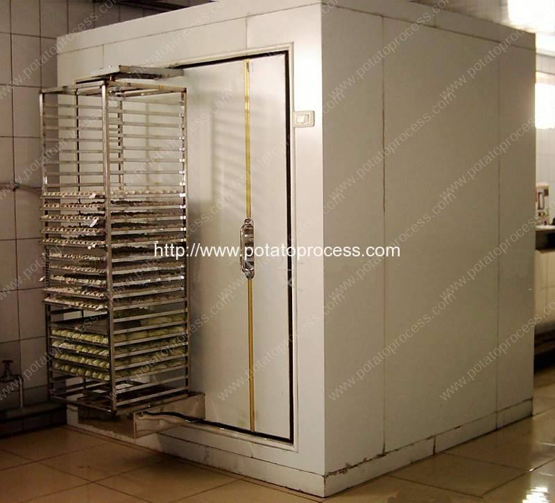 Carbon-Black-Cover-Type-Semi-Automatic-Instant-Freezing-Machine-for-Frozen-French-Fries-Production-Line