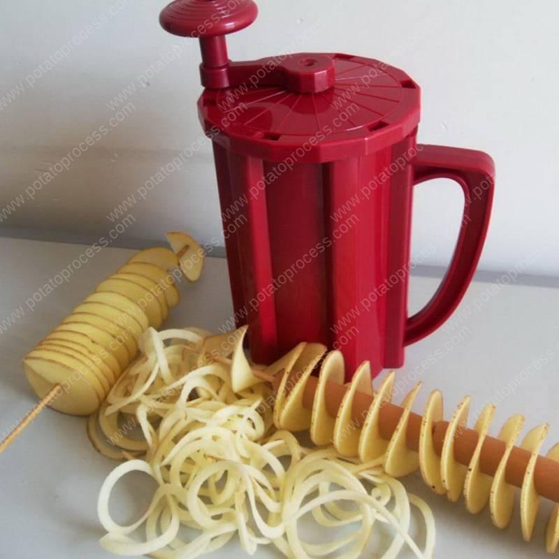 Cup-Type-Spiral-Potato-Slicer-Machine