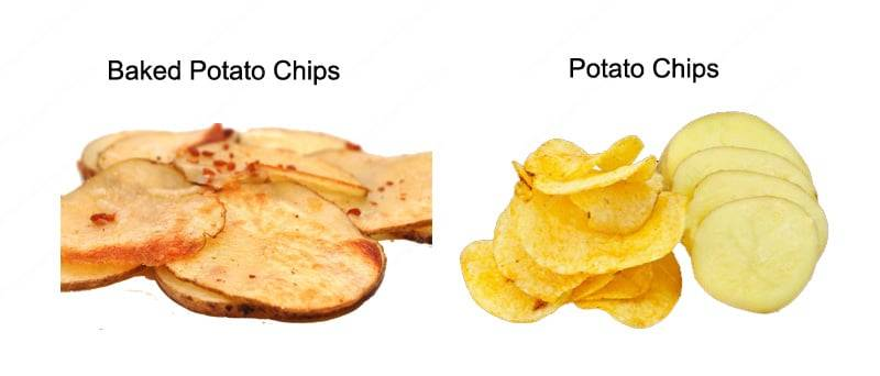 Fried Potato Chips VS Baked Potato Chips