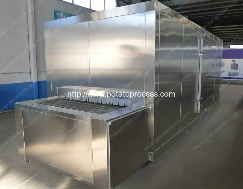 Full-Automatic-Tunnel-Type-100kgh-Frozen-French-Fries-Instant-Freezer
