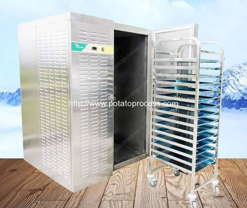 Full-Stainless-Steel-Semi-Automatic-Instant-Freezing-Machine-for-Frozen-French-Fries-Line