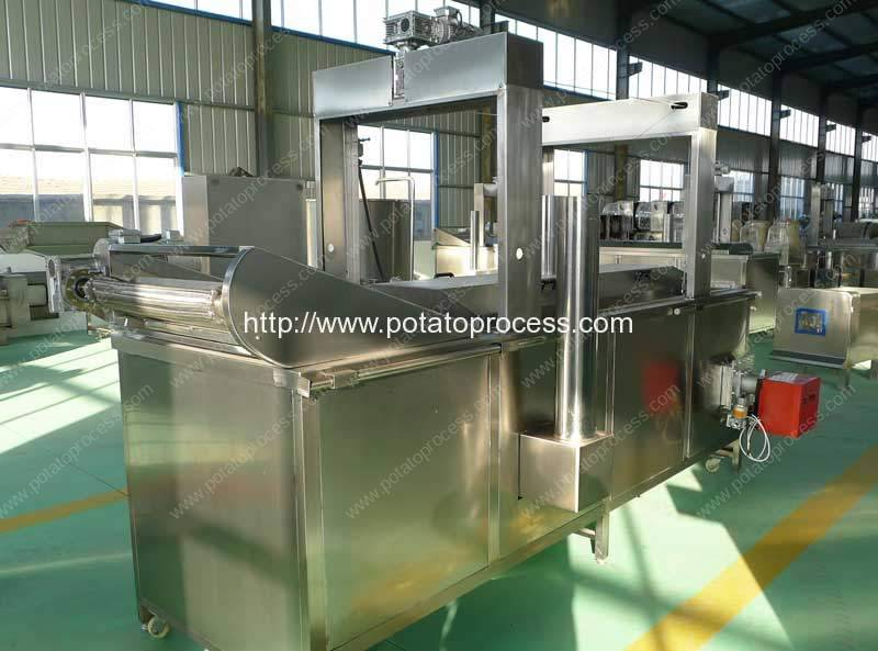 Natural-Gas-Heating-Automatic-French-Fries-Frying-Machine