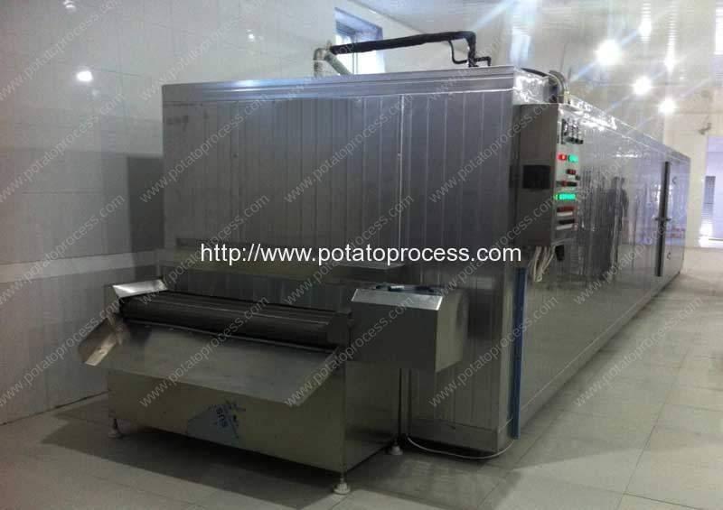 Máquina de congelação automática de túnel completo