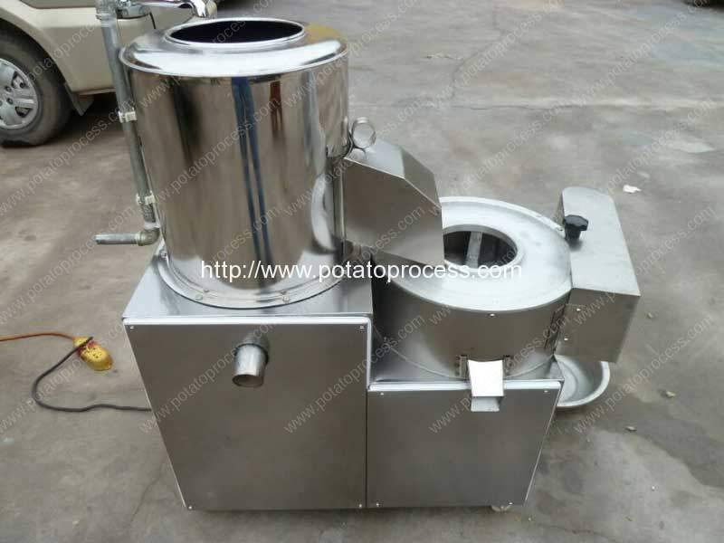 Integrated Potato Washing Peeling and Cutting Machine