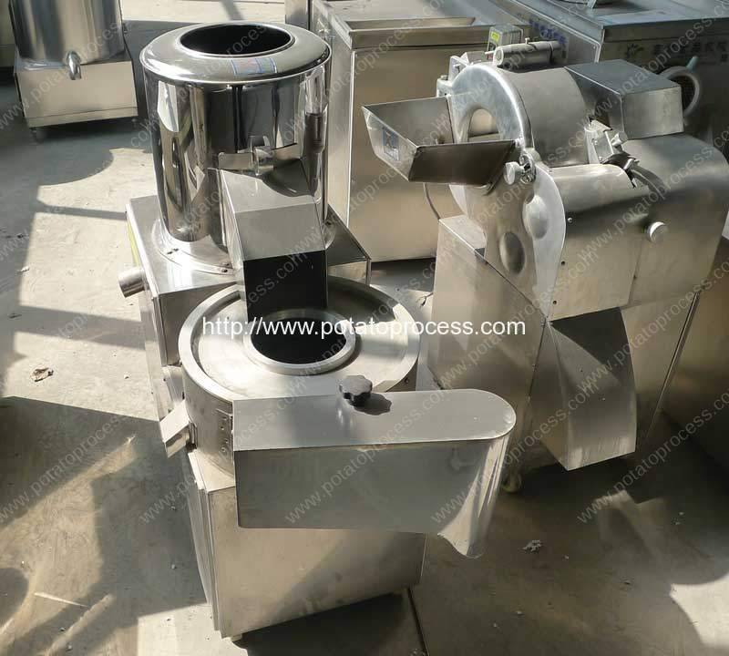 Integrated-Potato-Washing-Peeling-and-Cutting-Machine
