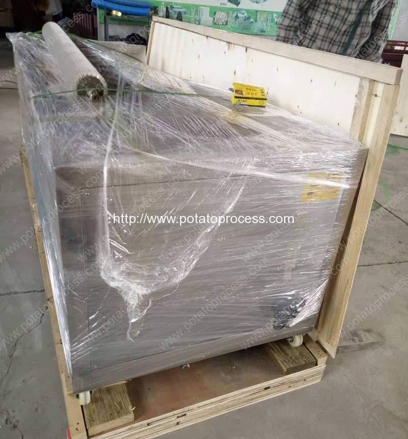 1500KGH Potato Washing Peeling Machine for Ukraine Customer