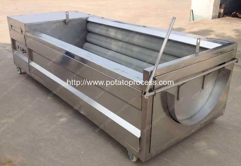 Automatic Potato Washing Peeling Machine for Zambia Customer