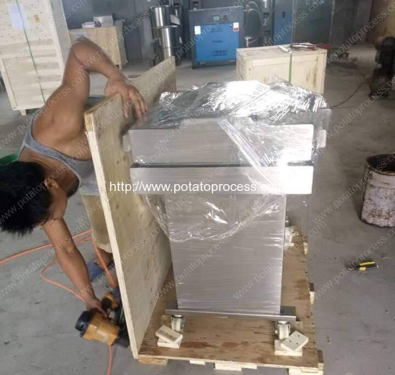 Semi-Automatic-French-Fries-Vacuum-Packing-Machine-Plywood-Package