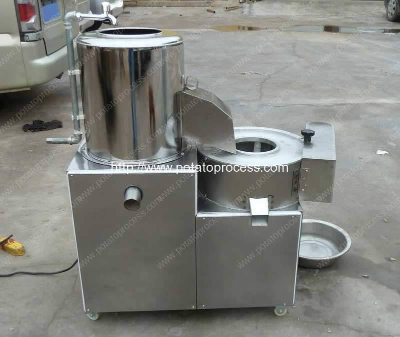 Small Potato Washing Peeling Cutting Machine for Cameroon Customer