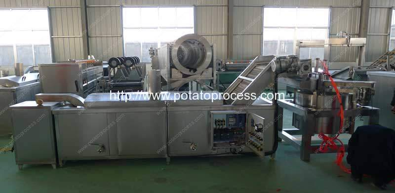 Full-Automatic-French-Fries-Cutting-Blanching-and-Water-Removing-Machine-Manufacture-and-Supplier-Romiter