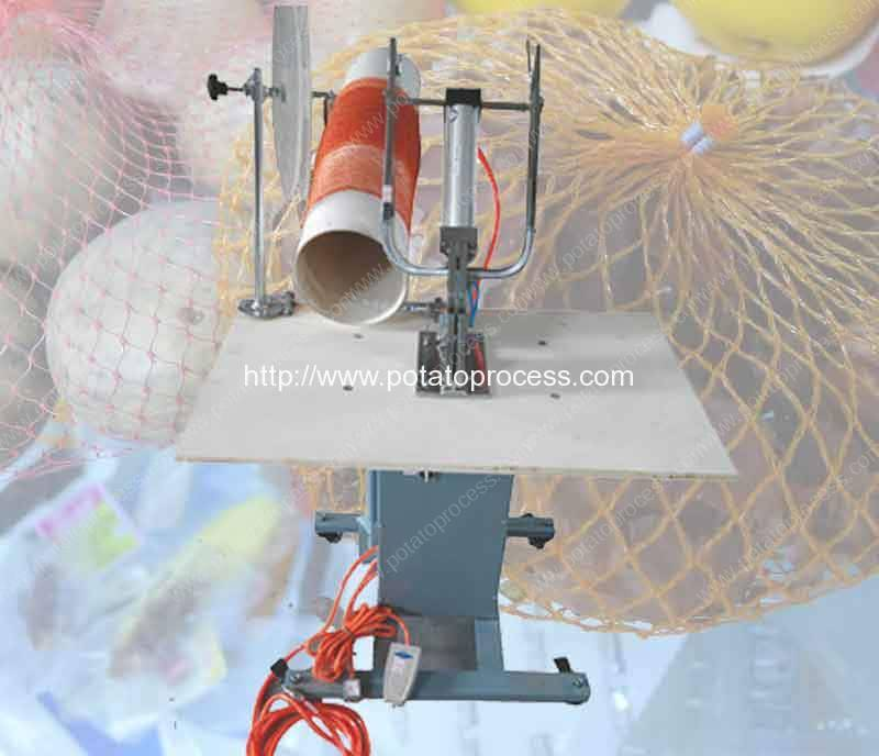 Semi-Automatic-Potato-Mesh-Bag-Clipping-Machine-from-Romiter