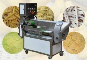 Máquina de corte de vegetales de papa multifuncional