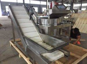Continuous-Working-De-Oiling-Machine-with-Feeding-Conveyor-for-Bangladesh-Customer