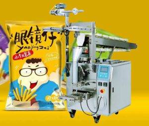 Semi-Automatic Potato Chips Chain Hopper Feeding Packing Machine