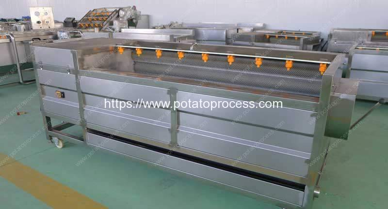 Brush Type Sweet Potato Washing Peeling Machine for USA Customer