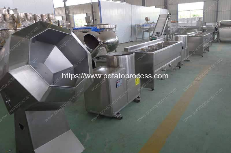 Semi-Automatic-Frying-French-Fries-Production-Line