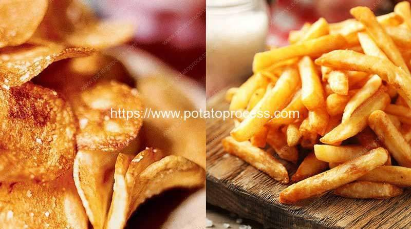 What are Difference for Processing Potato Chips French Fries and Frozen French Fries