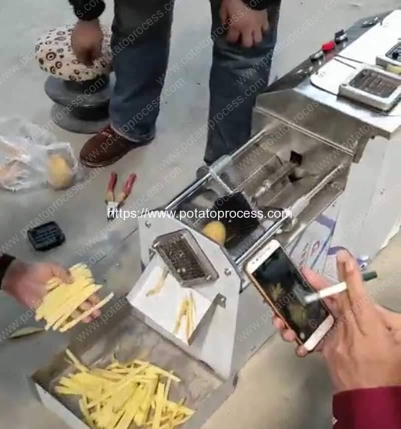 Semi-Automatic-French-Fries-Cutting-Machine