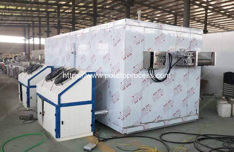 Automatic-100kgh-Frozen-French-Fries-Instant-Freezer-for-Botswana-Customer
