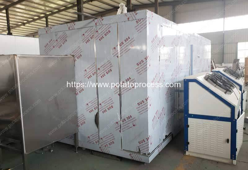 Automatic-100kgh-Instant-Freezer-for-Frozen-French-Fries