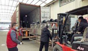 Automatic-French-Fries-Air-Blow-Oil-Removing-Machine-for-Botswana-Customer