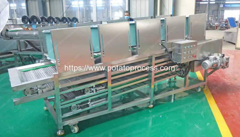 Three-Layer-Frozen-French-Fries-Cooling-Conveyor