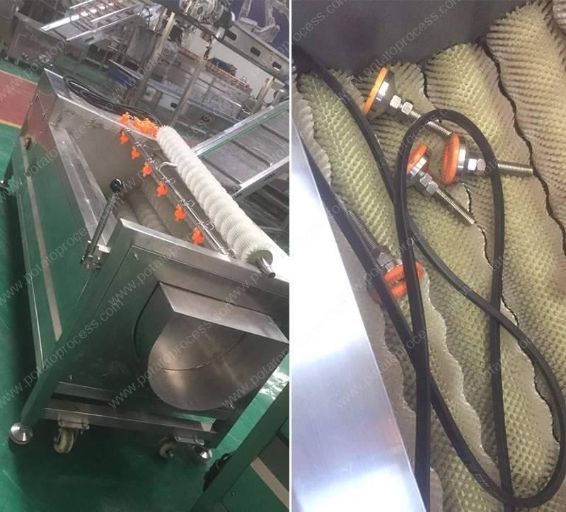 Auto-Potato-Washing-Peeling-Machine-Part-in-the-Brush-for-Bangladesh-Customer