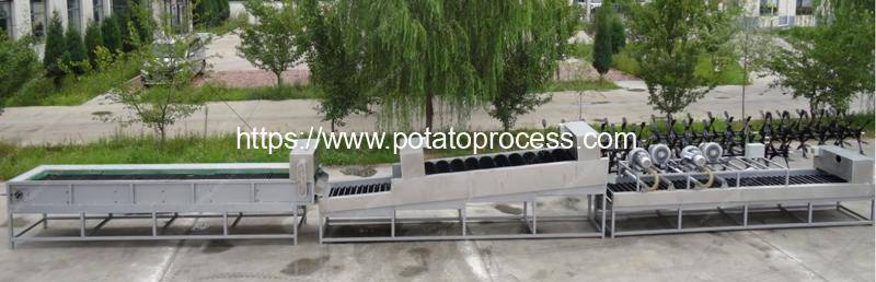 Automatic Fresh Potato Soil Removing and Dry Cleaning Line
