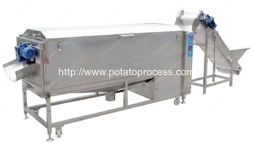 Full Automatic Potato Washing, Peeling, Selecting and Cutting Line