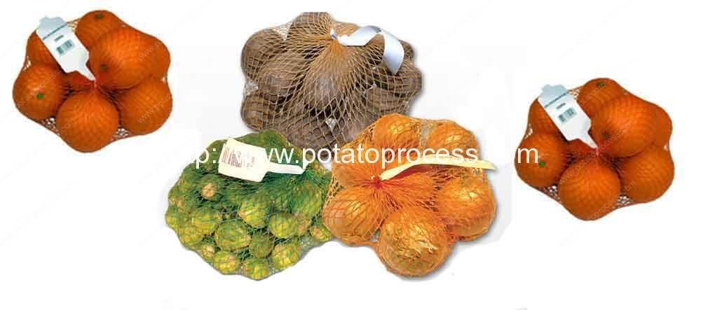 Potato-Mesh-Bag-Clipping-Packing-Machine