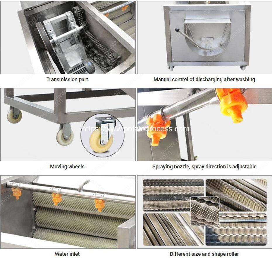 Structure-of-Brush-Type-Washing-Peeling-Machine