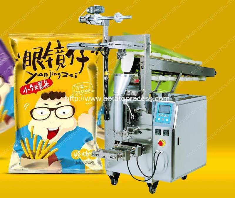 Semi-Automatic-Potato-Chips-Chain-Hopper-Feeding-Packing-Machine
