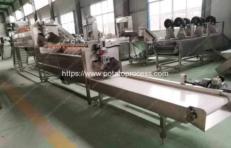 2000kgh-Brush-Type-Potato-Washing-Peeling-Machine