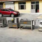 Semi-Automatic 100KGH Frozen French Fries Production Line