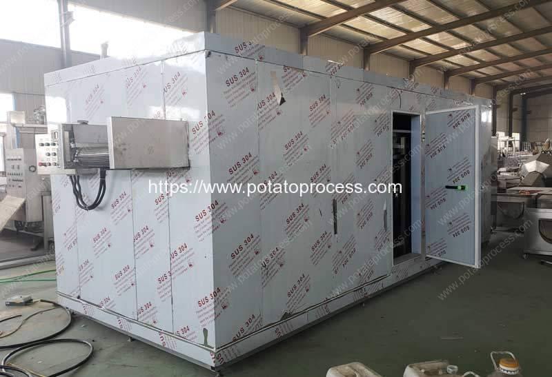 Automatic-Frozen-French-Fries-Instant-Freezer-for-Botswana-Customer