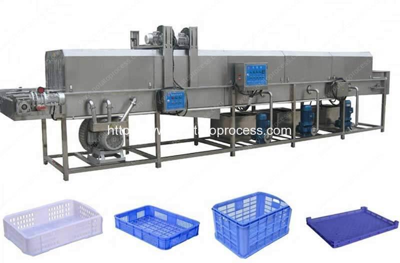 High-Pressure-Water-Spray-Basket-Tray-Cleaning-Machine